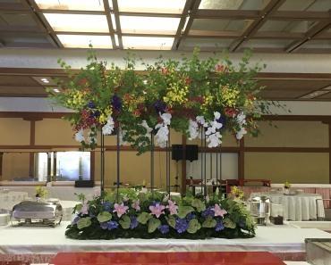 イベント会場の花