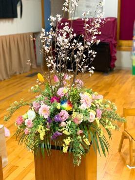卒園式の花
